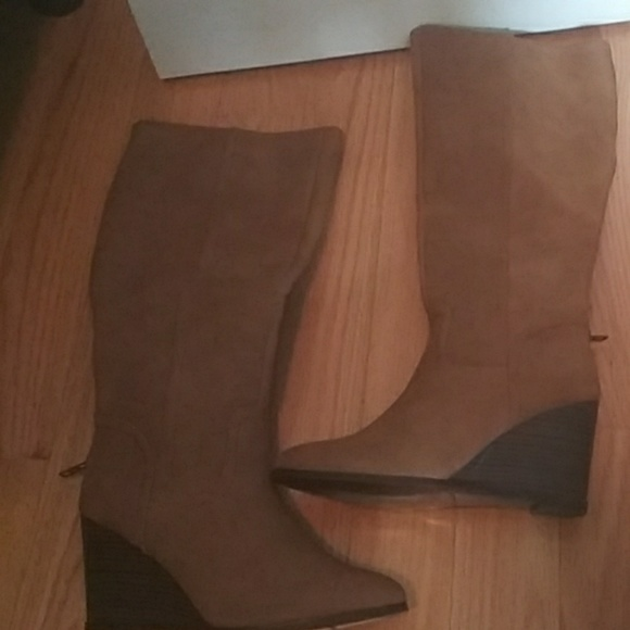 Rampage Shoes - Rampage brown wedge boots nwot